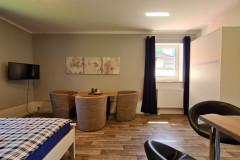 Mohnblume Bett Lounge Fensterblick